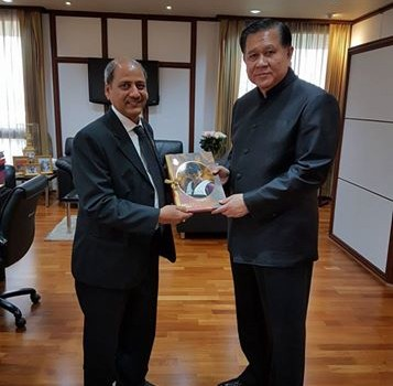 Courtesy meeting with H.E. General Tanasak Patimaprakorn, Deputy Prime Minister of Thailand at Government House in Bangkok. (Date: 10 Feb 2017)